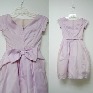 Other - lavender V-back dress with big bow . girls size 6